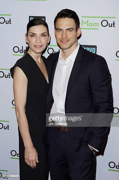 Actor Julianna Margulies and husband attend the Bravo Presents a special screening of Odd Mom Out at Florence Gould Hall on June 3 2015 in New York...