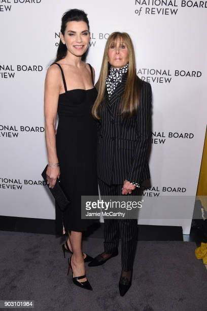 Actor Julianna Margulies and National Board of Review President Annie Schulhof attend the The National Board Of Review Annual Awards Gala at Cipriani...