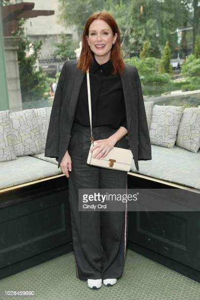 Actor Julianne Moore attends the Tory Burch Spring Summer 2019 Fashion Show at Cooper Hewitt Smithsonian Design Museum on September 7 2018 in New...
