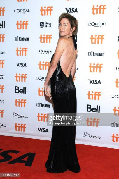Actor Julianne Nicholson wearing RUBIN CHAPELLE attends the I Tonya Premiere during the 2017 Toronto International Film Festival held at Princess of...
