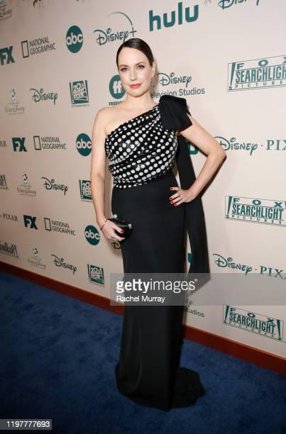 Actor Julie Ann Emery attends the 2020 Walt Disney Company PostGolden Globe Awards Show celebration at The Beverly Hilton Hotel on January 05 2020 in...