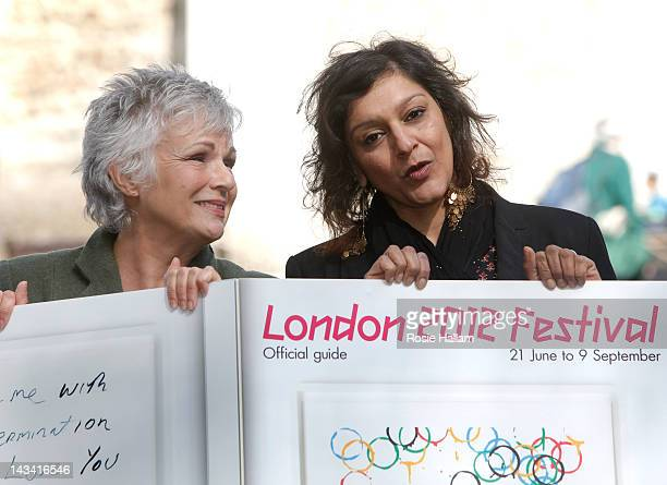Actor Julie Walters and Comedian Meera Syal attend the announcement of the London 2012 Festival on April 26 2012 in London England More than 25000...
