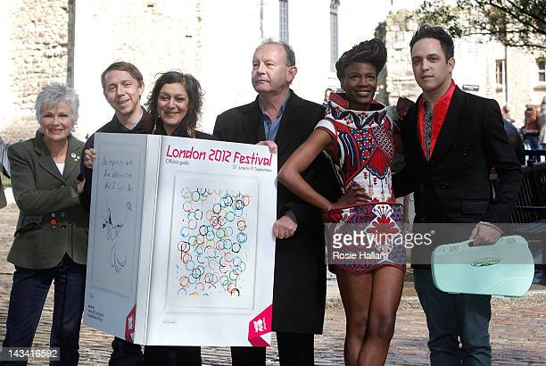 Actor Julie Walters DJ Gilles Peterson comedians Meera Syal and Eddie Nestor and Shingai Shoniwa and Dan Smith from The Noisettes attend the...