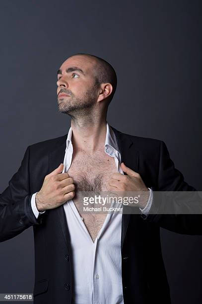Actor Julien Arruti is photographed at the City of Lights City of Angeles French film festival portrait studio on April 21 2014 in Los Angeles...