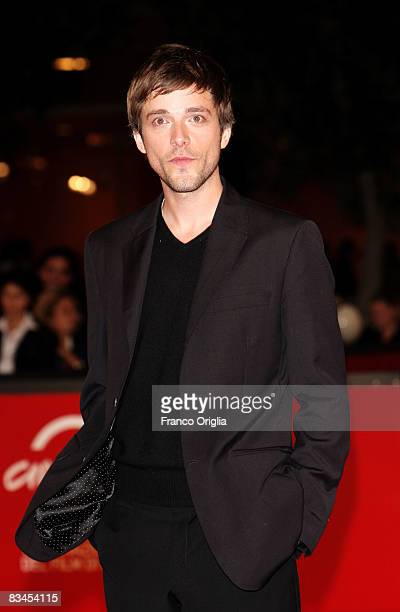 Actor Julien Baumgartner attends the 'AideToi Et Le Ciel T'aidera' premiere during the 3rd Rome International Film Festival held at the Auditorium...