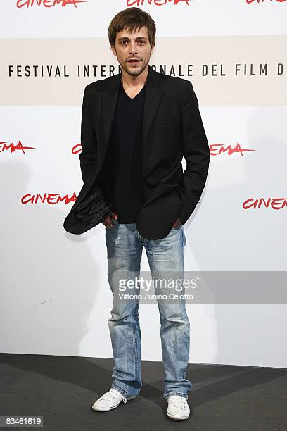Actor Julien Baumgartner attends the 'The Joy Of Singing' photocall during the 3rd Rome International Film Festival held at the Auditorium Parco...