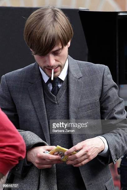 Actor Julien Baumgartner on location for The Tourist at Piazza Ferretto on May 17 2010 in Mestre Italy