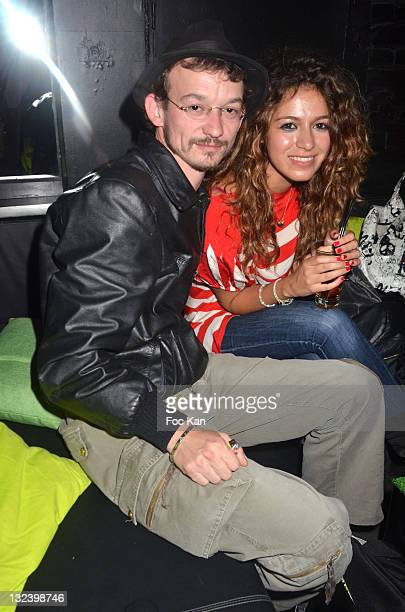 Actor Julien Courbey and a guest attend the 'Take It Irish 2011' Cinema Awards Hosted by Jameson at Social Club on June 8 2011 in Paris France