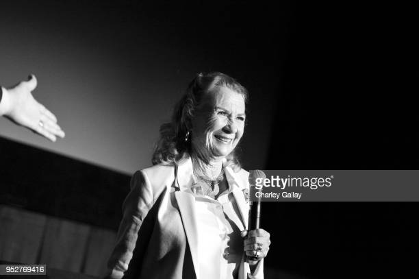 Actor Juliet Mills speaks onstage at the screening of 'Tunes of Glory' during day 4 of the 2018 TCM Classic Film Festival on April 29 2018 in...