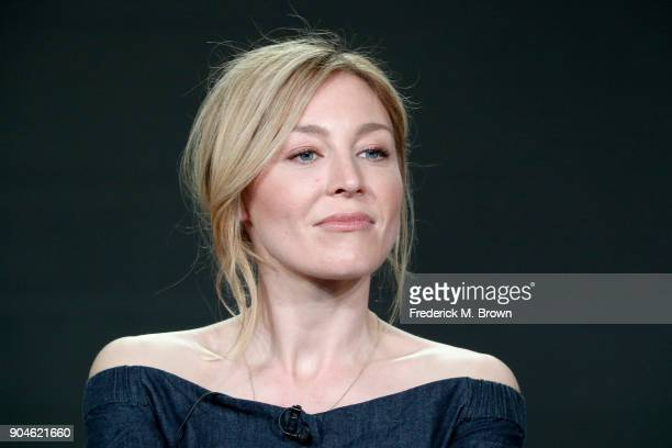 Actor Juliet Rylance of 'McMafia' speaks onstage during the AMC Networks portion of the 2018 Winter Television Critics Association Press Tour at The...