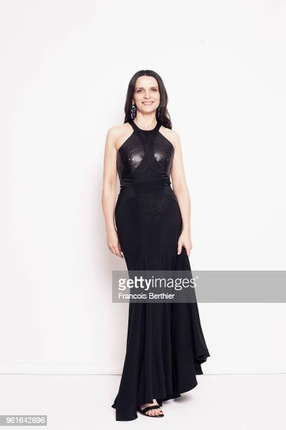 Actor Juliette Binoche is photographed for Gala Croisette magazine on May 14 2018 at the 71st Cannes Film Festival in Cannes France