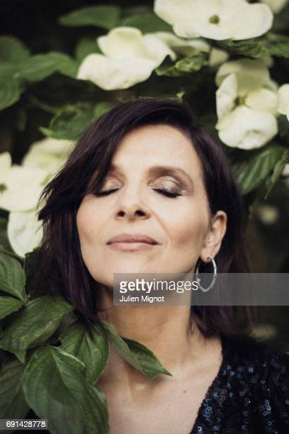 Actor Juliette Binoche is photographed for Grazia magazine on May 15 2017 in Paris France