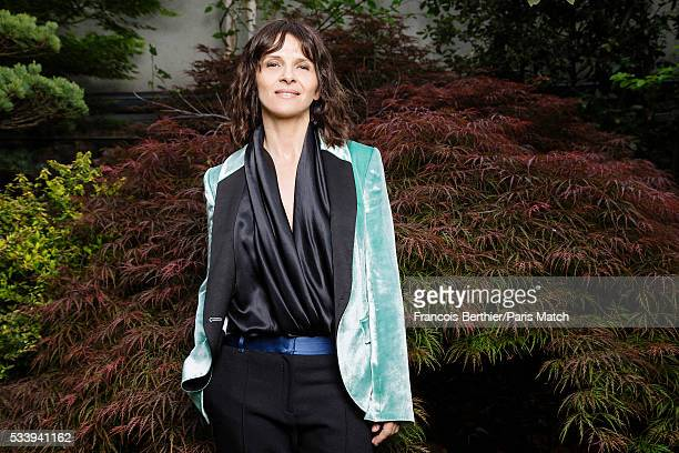 Actor Juliette Binoche is photographed for Paris Match on May 9, 2016 in Paris, France.