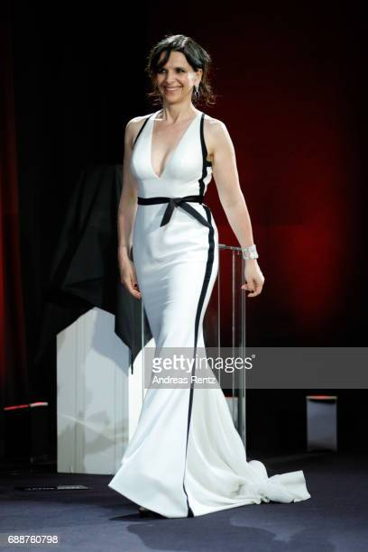 Actor Juliette Binoche onstage at the Tribute to Christopher Doyle during the 70th annual Cannes Film Festival at on May 26 2017 in Cannes France