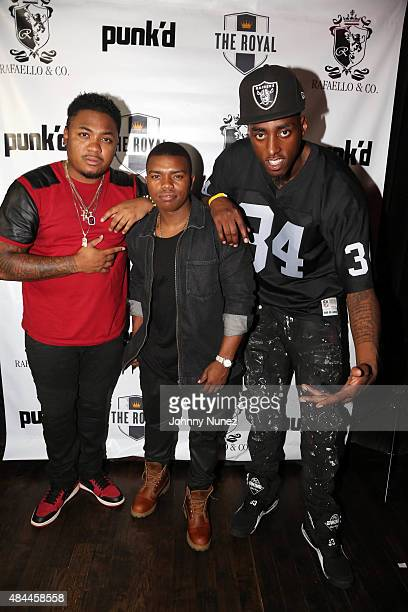 Actor Julito McCullum, actor Marc John Jefferies, and professional basketaball player Anthony Mason Jr. Attend the Punk'd! Private Celebrity Viewing...