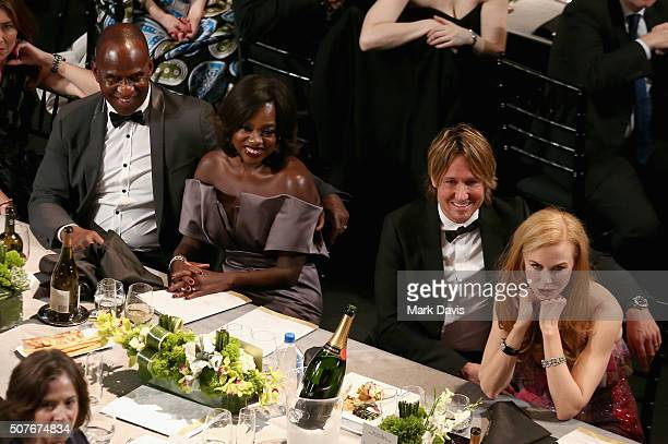Actor Julius Tennon actress Viola Davis recording artist Keith Urban and actress Nicole Kidman attend The 22nd Annual Screen Actors Guild Awards at...