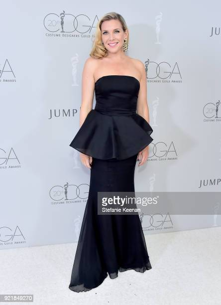Actor June Diane Raphael attends the Costume Designers Guild Awards at The Beverly Hilton Hotel on February 20 2018 in Beverly Hills California