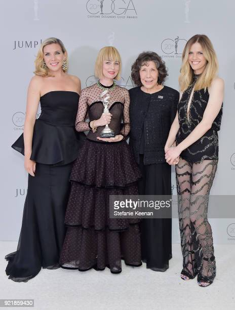 Actor June Diane Raphael costume designer Jennifer Johnson winner of the Excellence in Contemporary Film award for 'I Tonya' actor Lily Tomlin and...