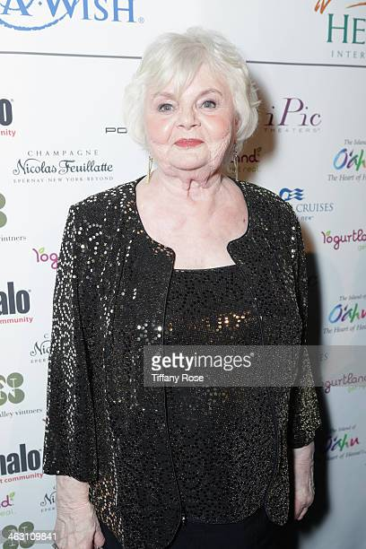 Actor June Squibb with Champagne Nicolas Feuillatte at the 19th Annual Critics' Choice Movie Awards at Barker Hangar on January 16 2014 in Santa...
