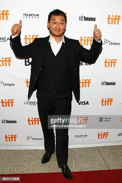 Actor Jung Mansik attends the 'Asura The City Of Madness' premiere held at The Elgin during the Toronto International Film Festival on September 13...