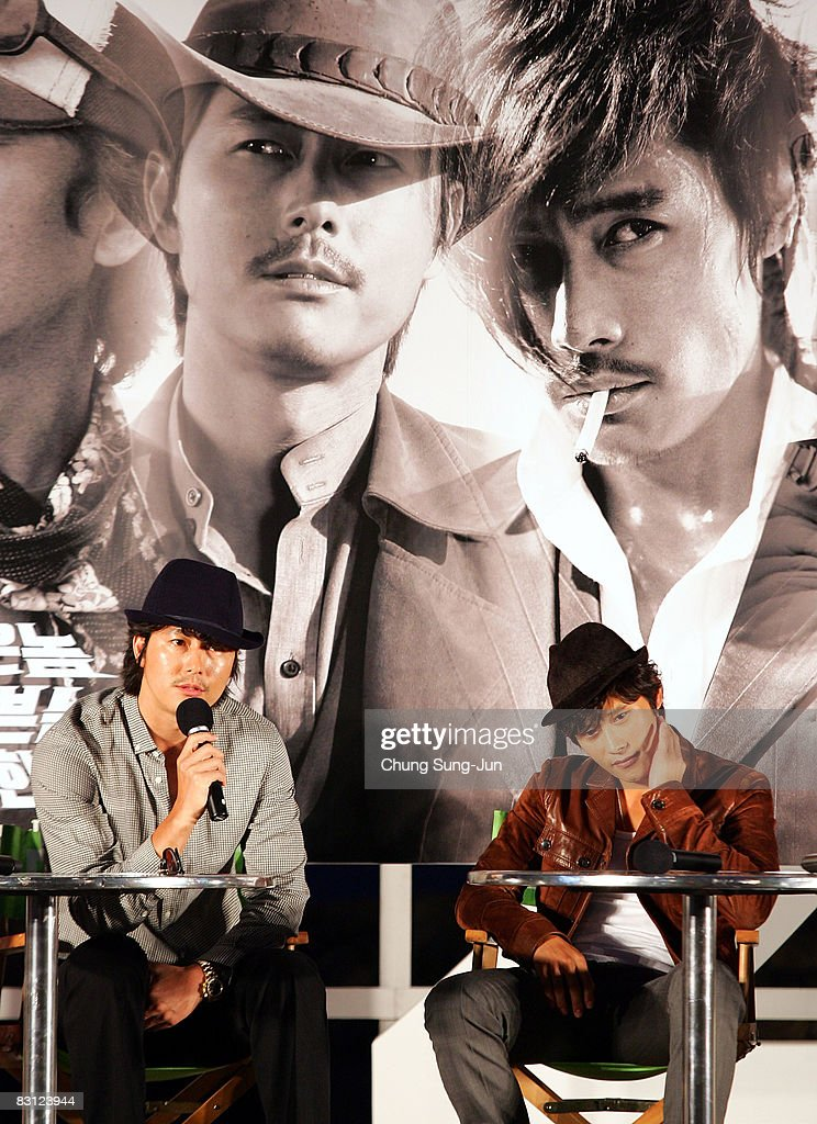 Actor Jung Woo-Sung and Lee Byung-Hun attend their Open Talk of 'The Good The Bad The Weird' at the 13th Pusan International Film Festival on October 4, 2008 in Busan, South Korea. The biggest film festival in Asia showcases 315 films from 60 countries.
