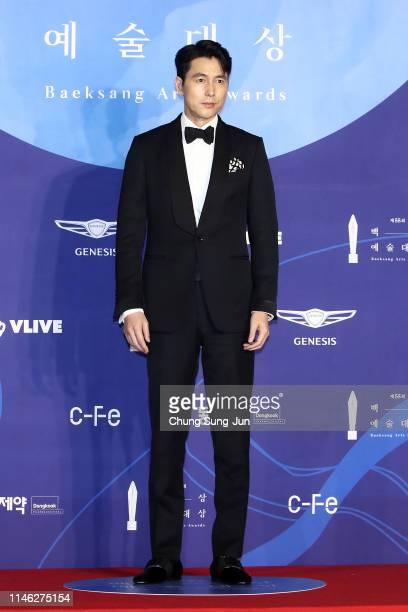 Actor Jung Woo-Sung attends the 55th Baeksang Arts Awards at COEX D Hall on May 01, 2019 in Seoul, South Korea.