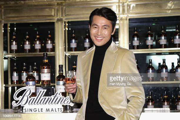 Actor Jung WooSung attends the photocall for Pernod Ricard Korea Ballantine's 'Wanna Meet A Single' campaign on December 6 2018 in Seoul South Korea