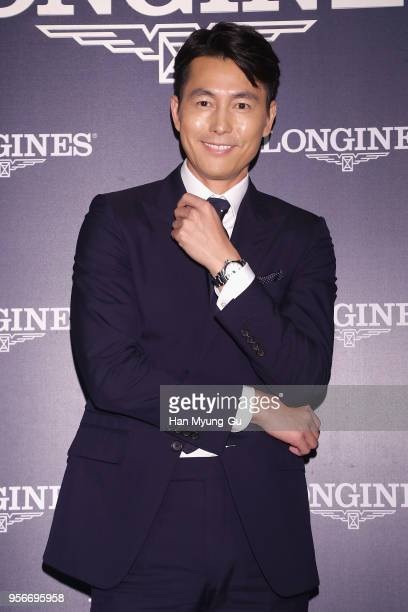 Actor Jung WooSung attends the photocall for the LONGINES Watch 186th Anniversary on May 9 2018 in Seoul South Korea