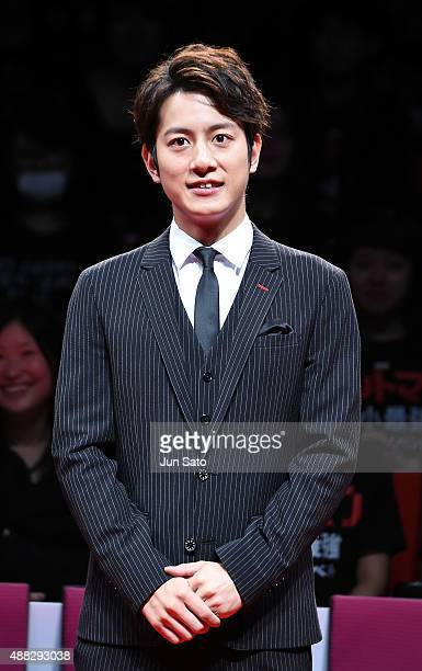 Actor Junpei Mizobata attends the Japan Premiere of AntMan at EX Theater Roppongi on September 15 2015 in Tokyo Japan