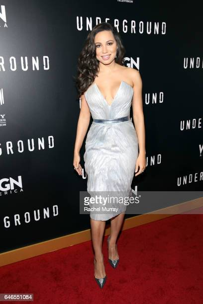 Actor Jurnee SmollettBell attends WGN America's 'Underground' Season Two Premiere Screening at Regency Village Theatre on March 1 2017 in Westwood...