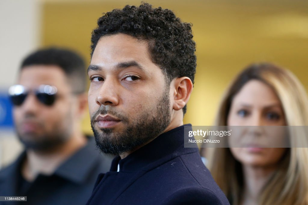 Actor Jussie Smollett Appears Outside Of Court After It Was Announced That All Charges Have Been Dropped Against Him : News Photo