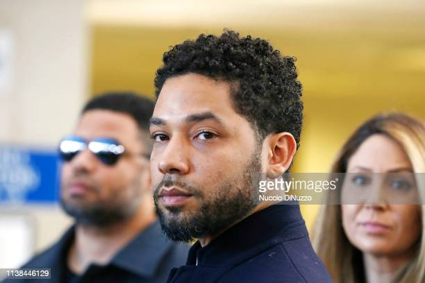 Actor Jussie Smollett after his court appearance at Leighton Courthouse on March 26 2019 in Chicago Illinois This morning in court it was announced...