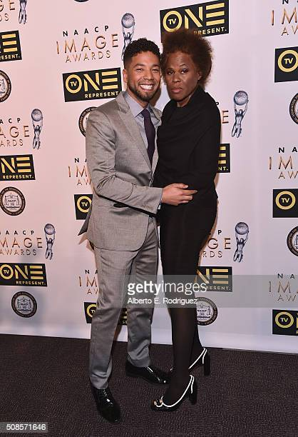 Actor Jussie Smollett and Janet Smollett attend the 47th NAACP Image Awards NonTelevised Awards Ceremony on February 4 2016 in Pasadena California