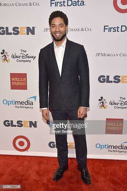 Actor Jussie Smollett arrives at the GLSEN Respect Awards at Cipriani 42nd Street on May 23 2016 in New York City