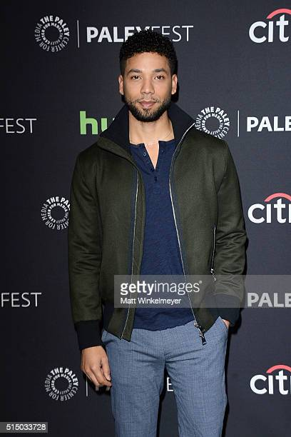 Actor Jussie Smollett arrives at The Paley Center For Media's 33rd Annual PALEYFEST Los Angeles Empire at Dolby Theatre on March 11 2016 in Hollywood...