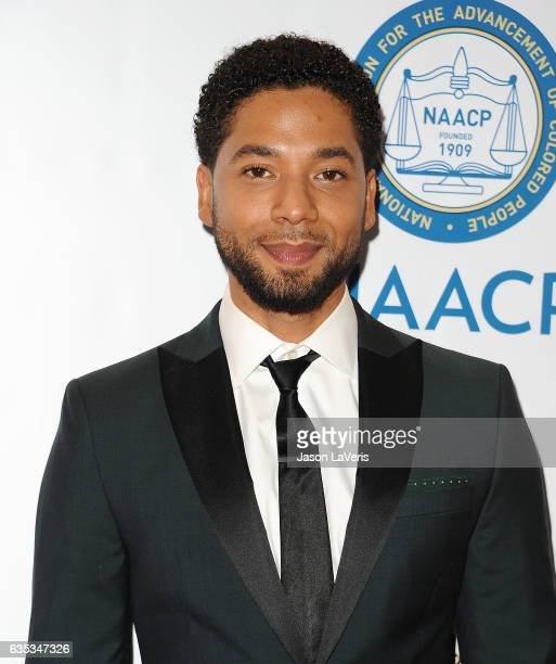 Actor Jussie Smollett attends the 48th NAACP Image Awards at Pasadena Civic Auditorium on February 11 2017 in Pasadena California
