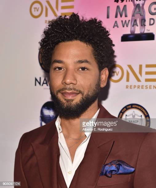 Actor Jussie Smollett attends the 49th NAACP Image Awards NonTelevised Award Show at The Pasadena Civic Auditorium on January 14 2018 in Pasadena...