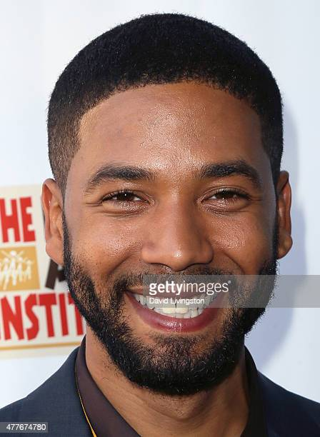 Actor Jussie Smollett attends the Black AIDS Institute 2015 Heroes in the Struggle Gala Reception and Awards Ceremony at the Directors Guild of...