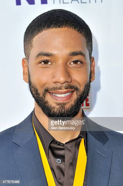 Actor Jussie Smollett attends the Black AIDS Institute 2015 Heroes in the Struggle Reception Gala and Awards Ceremony at Directors Guild Of America...