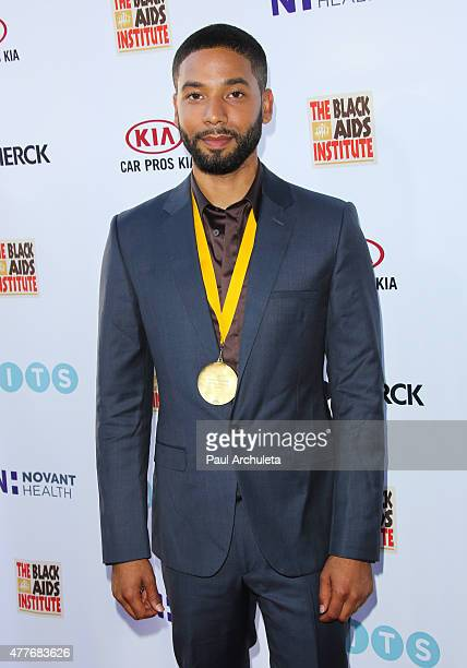 Actor Jussie Smollett attends the Black AIDS Institutes 2015 Heroes In The Struggle gala reception and awards ceremony at The Directors Guild Of...