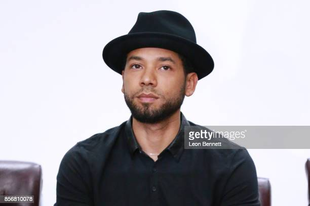 Actor Jussie Smollett attends the Compton High School Student Screening Of Open Road Films' 'Marshall' at Compton High School on October 2 2017 in...