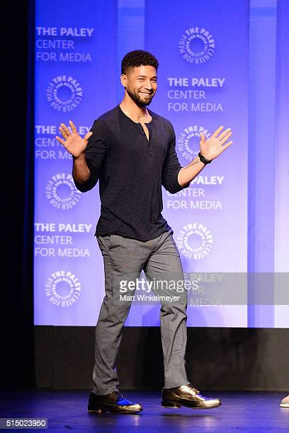 Actor Jussie Smollett attends The Paley Center For Media's 33rd Annual PALEYFEST Los Angeles presents 'Empire' at Dolby Theatre on March 11 2016 in...