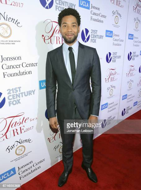 Actor Jussie Smollett attends the UCLA Jonsson Cancer Center Foundation Hosts 22nd Annual 'Taste for a Cure' event honoring Yael and Scooter Braun at...