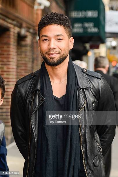 Actor Jussie Smollett enters 'The Late Show With Stephen Colbert' taping at the Ed Sullivan Theater on March 16 2016 in New York City