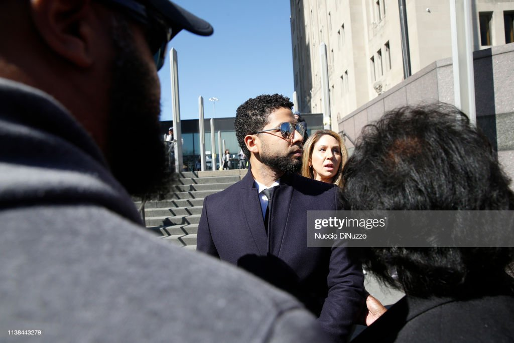 IL: Actor Jussie Smollett Appears Outside Of Court After It Was Announced That All Charges Have Been Dropped Against Him