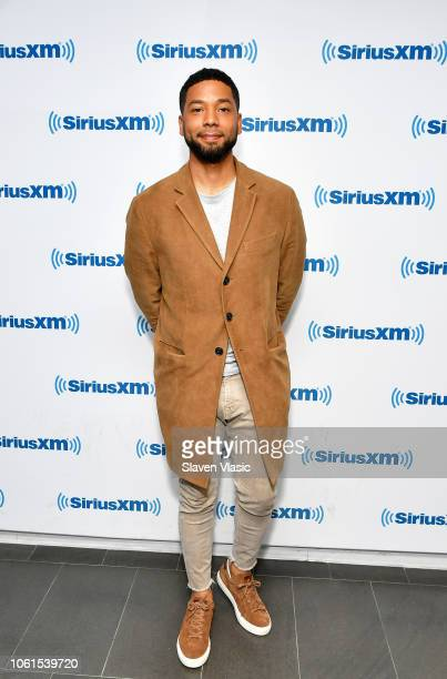Actor Jussie Smollett visits SiriusXM Studios on November 14 2018 in New York City