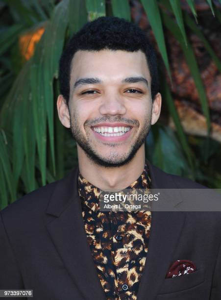 "Actor Justice Smith arrives for the Premiere Of Universal Pictures And Amblin Entertainment's ""Jurassic World: Fallen Kingdom"" held at Walt Disney..."