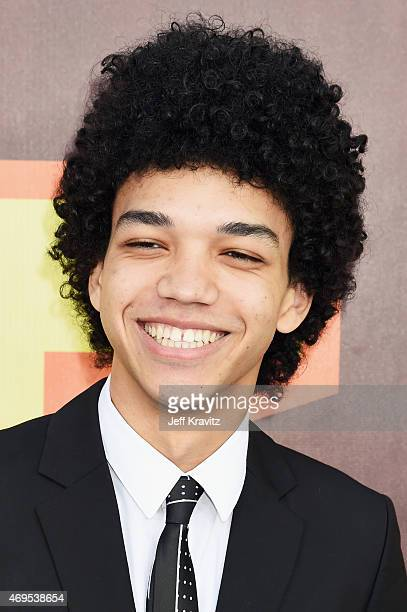 Actor Justice Smith attends The 2015 MTV Movie Awards at Nokia Theatre L.A. Live on April 12, 2015 in Los Angeles, California.