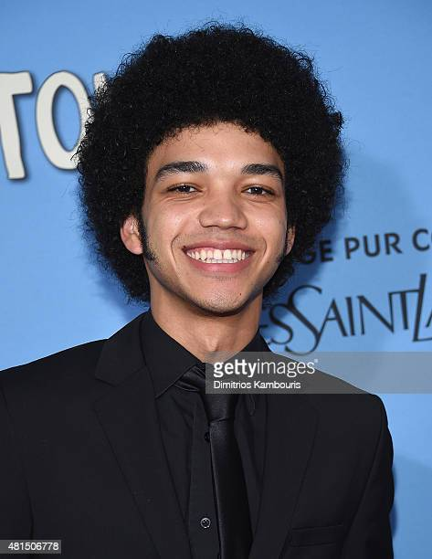 Actor Justice Smith attends the Paper Towns New York Premiere at AMC Loews Lincoln Square on July 21 2015 in New York City
