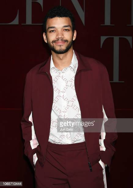 Actor Justice Smith attends the photocall for Valentino TKY 2019 PreFall Collection at Terada Warehouse on November 27 2018 in Tokyo Japan